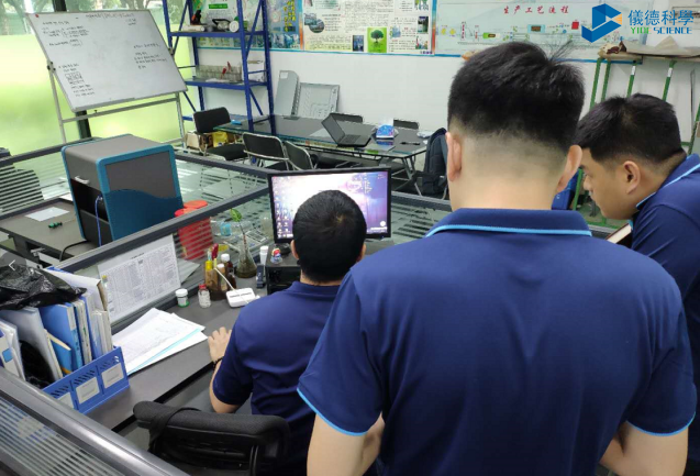斯派克便携式合金分析仪带测试仓安装现场
